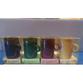 陶瓷製品 麥斯威爾歐式咖啡杯 馬克杯 杯子 (可挑色 付塑膠盒子)