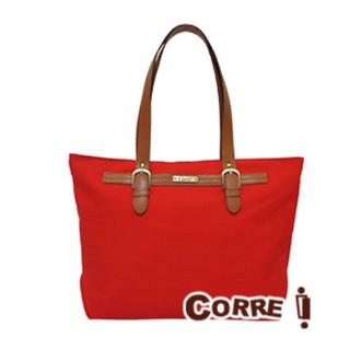 CORRE corre Corre 帆布 皮革 肩背包 側背包 托特包 手提包  包 紅色 CP023 cp-023