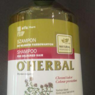 Hallmark 合瑪克 O'HERBAL歐荷柏 百里香護色洗髮精500ml(染燙髮質適用)髮色持久鮮明