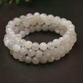 天然水晶 白月光石 單圈 手鍊 手鏈 手環 手串珠