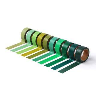100選色紙膠帶│綠色系